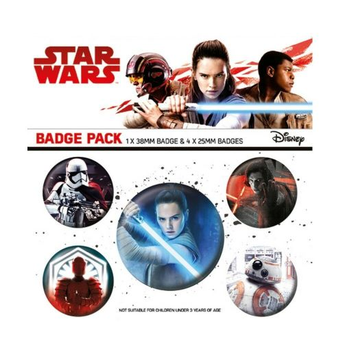 Star Wars The Last Jedi Button Badge Pack
